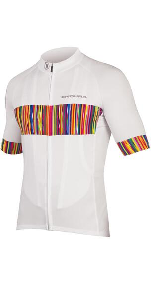 Endura Pinstripe Short Sleeve Jersey Men white